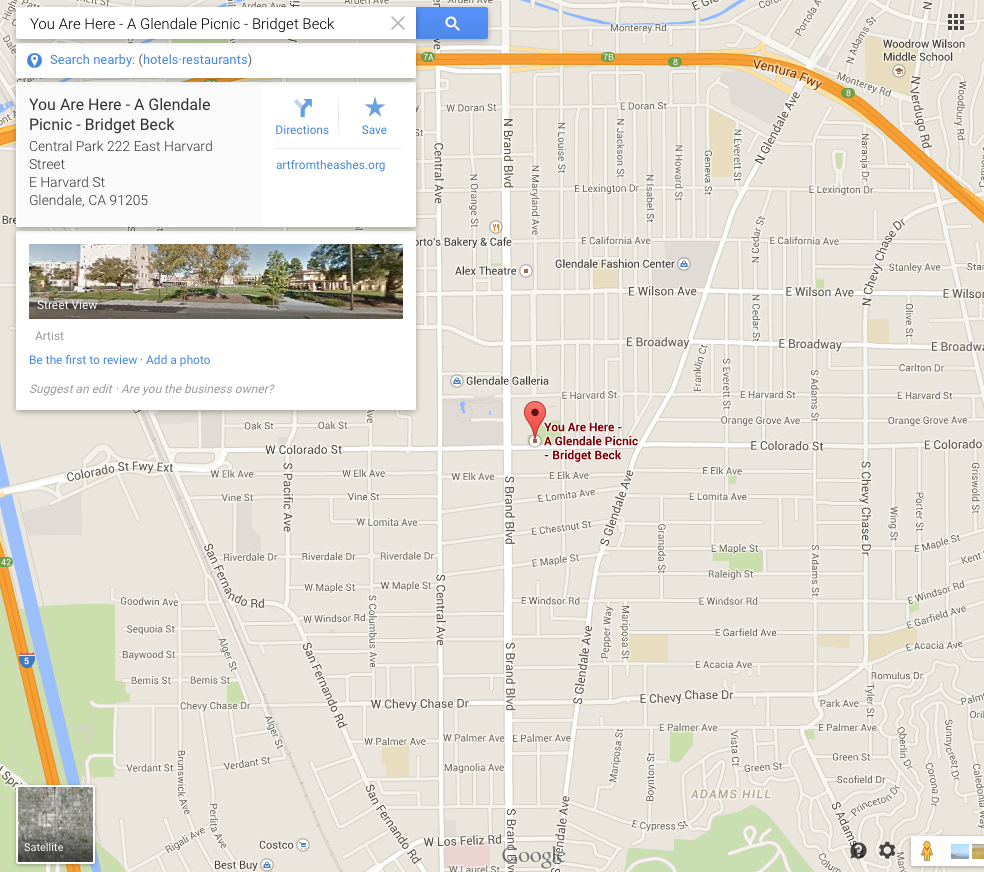 1-Bridget-Beck-A-Glendale-Picnic-You-Are-Here-AFTA-Productions-Google-Map1